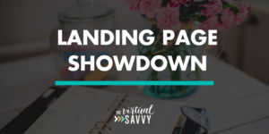 create a landing page