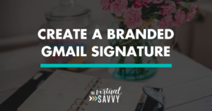 branded gmail signature
