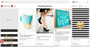 Pinterest Branding Board