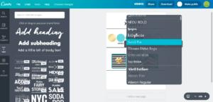 Canva Font Selections