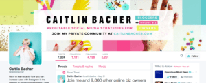 Caitlin Bachers Twitter Page
