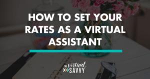 set rates virtual assistant