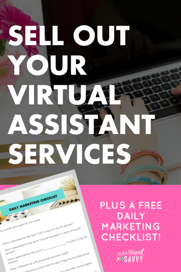 sell out your services as a virtual assistant - Real Virtual Assistant Jobs