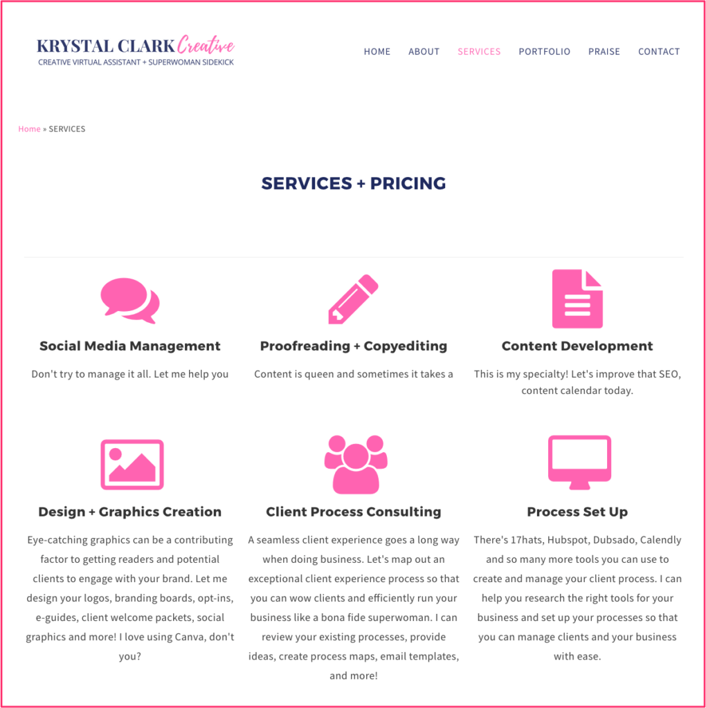 Great Website Designs For Virtual Assistant